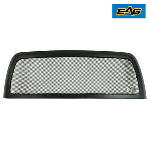Eag Stainless Black Mesh Grille Upper Replacement Fit 13 18 Dodge Ram 2500 3500