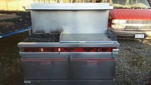 Vulcan 60 Range 4 Burner gas 36 Griddle 1 Convection Oven 1 Standard Oven