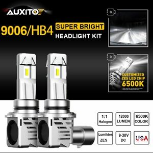 2x Auxito 9006 Hb4 12000lm Led Headlight Kit Bulbs Low Beam Lamps Super White