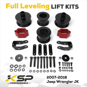 3 Front 3 Rear Full Lift Kit With Shock Extenders 2007 2018 Jeep Wrangler Jk