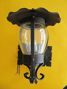 Vintage Spanish Revival Iron Porch Light Lamp 1930 S Wired Ready To Install