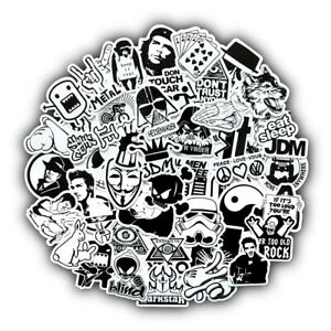 Sticker Bombing Car Decal Motorcycle Vinyl Black White Graffiti Bomb Styling 50x