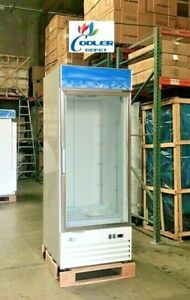 New Commercial 23 Cubic Ft One Glass Door Freezer Merchandiser Nsf Etl Single