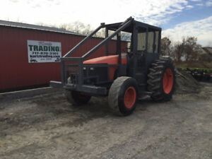 2007 Kubota M105s 4x4 Forestry Tractor W Cage Front Winch Only 1100 Hours