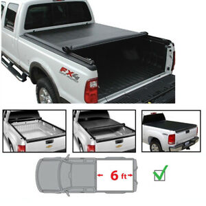6ft Bed Soft Roll Up Tonneau Cover Fit 82 13 Ford Ranger 94 11 Mazda Pickup