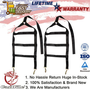 2 Pack Tow Straps Recovery Rope For Heavy Duty Car Dolly Wheel Net Tire Truck Us
