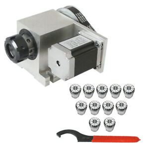4axis Cnc Stepper Motor Hollow Shaft Rotary Router Er32 Collet 3 20mm F engraver