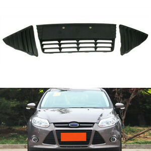 Fit For Ford Focus Iii 2012 2013 2014 Front Lower Grille Grill Black Kit Of 3