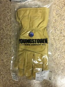 1 Pair Youngstown leather kevlar water Proof cut wind Resistant fr Gloves l