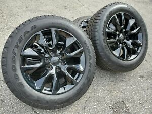 20 Wheels Tires Fits Chevy Silverado Tahoe Suburban Gloss Black Rst Sty Rims