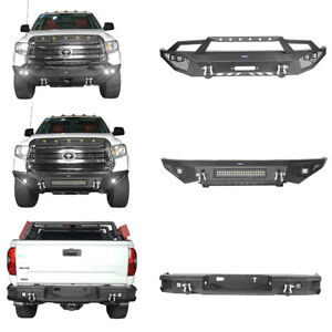 Front Rear Steel Bumper W Led Spot Light D ring For Toyota Tundra 2014 2020
