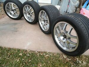 18x9 5 Inch 2008 Ford Oem Mustang Shelby Gt500 Wheel Tire Set Like New Rare