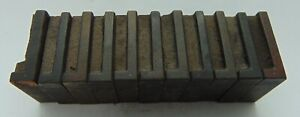 Wood Type Letterpress Printers Blocks Lot Of 11 1 Letter L