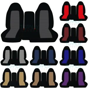 04 12 Chevy Colorado Gmc Canyon 60 40 2 Tone Truck Seat Covers W Armrest Console