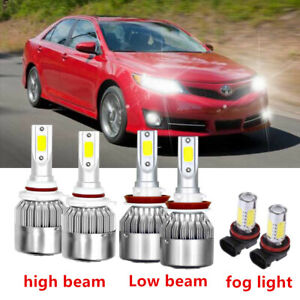 6x Car Led Lights For Toyota Camry 2007 2014 Led Headlight Fog Light Bulbs Kit