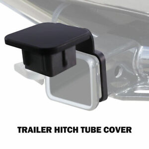 Trailer Hitch Heavy Duty Rubber Tube Cover Plug Receiver Black For Mercedes Jeep