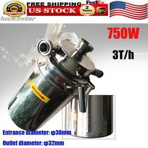 750w Stainless Steel 3t Food Grade Centrifugal Pump Sanitary Beverage Pump Usa