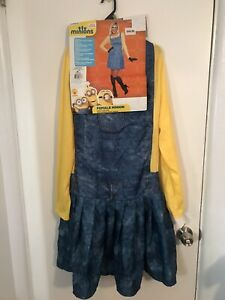 New Women#x27;s Minion Female Costume Large Cosplay Anime Yellow Dress Despicable Me $14.99