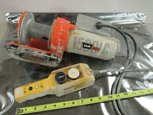 Warn Works 28500 1500ac Winch With Remote 120vac 50 60hz 1ph No Cable tested
