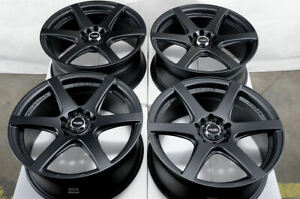 17 5x114 3 5x100 Black Wheels Fits Volkswagen Golf Beetle Gti Accord 5 Lug Rims