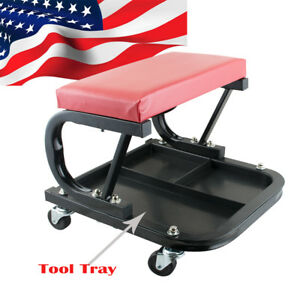 Car Repair Roller Seat Padded Mechanics Roller Creeper Bench Garage Vehicle Tool