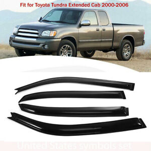 4pcs For 2000 2006 Toyota Tundra Extended Cab Window Visor Shade Rain Sun Guard
