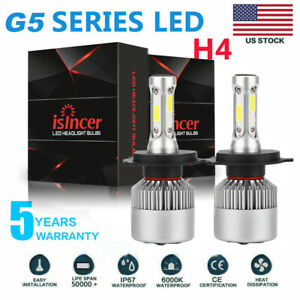 Pair H4 Hb2 9003 Car Led Headlight Kit Combo 2600w 390000lm High Low Beam 6000k
