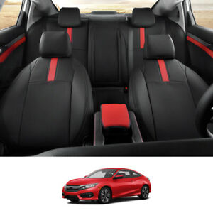 Car Seat Covers For Honda Civic 2016 2017 2018 2019 2020 Leather Covers