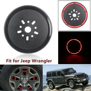 Fit For Jeep Wrangler 2007 18 Spare Tire Third Brake Led Wheel Ring Light Parts
