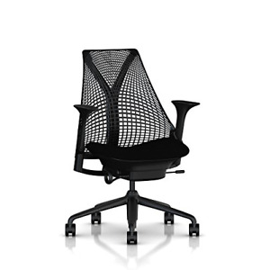 Herman Miller Sayl Ergonomic Office Chair With Tilt Limiter And Carpet Casters