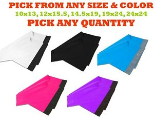 Poly Mailers Shipping Envelopes Plastic Mailing Bags Sealing White Black Large