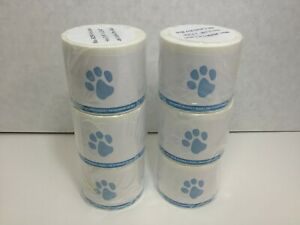 Veterinary Prescription Labels Blue Paw Print Warning 2 1 8 X 2 3 4 6 Rolls