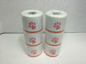 Veterinary Prescription Labels Red Paw Print Warning 2 1 8 X 2 3 4 6 Rolls