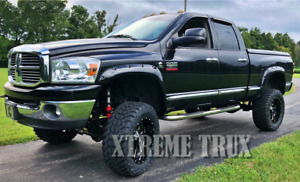Paintable Black 03 09 Dodge Ram 2500 3500 Bolt On Pocket Riveted Fender Flares
