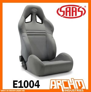 Saas Kombat Sports Car Seat Dual Recline Charcoal Comfort Support Adr Strong
