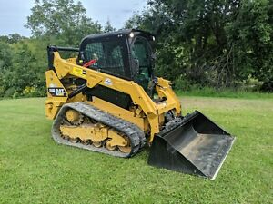 2014 Caterpillar 259d Compact Rubber Track Loader Construction Hydraulic Machine