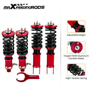 Twin tube Damper Coilover Suspension Kits For Honda Civic 1996 2000 Red