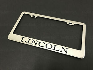 1pc For Lincoln Models Stainless Steel Chrome License Plate Frame Screw Caps