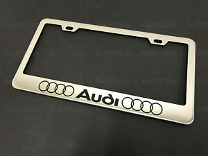 1pc Foraudi W 4 Ring Logo Stainless Steel Chrome License Plate Frame Screw Caps
