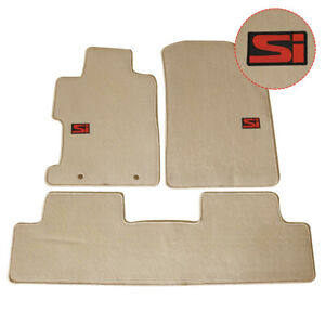 For 06 11 Honda Civic Beige Floor Mats Front Rear Anti slip Nylon Carpets Set