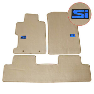 For 06 11 Honda Civic Sedan Coupe Floor Mats Front Rear Carpet Beige Nylon W Si