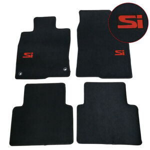 For 16 20 Honda Civic Sedan 4dr Floor Mats Anti slip Carpet Black Nylon 4pcs Set