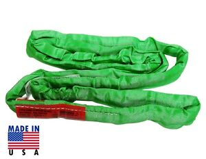Usa Domestic 12 Green Endless Round Lifting Sling Crane Rigging Recovery