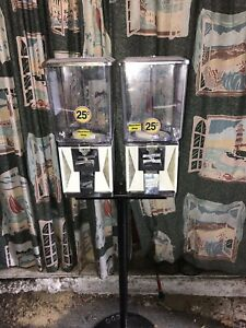 Northwestern Double Head Bulk Vending Candy Machines With Stand And Keys