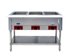 Atosa 48 Electric 3 well Dry Steam Table 1500w 120v Cstea 3b