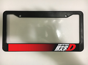Initial D Racing Jdm Japan Japanese Cartoon Tune Car Usa Suv License Plate Frame