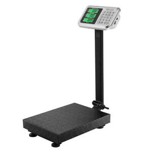 220lb 100kg 100g Digital Shipping Postal Scale Backlit Lcd Floor Steel Platform