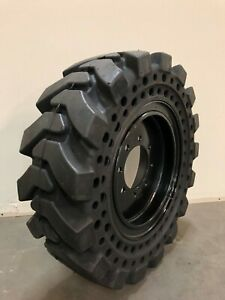 10x16 5 30x10 16 Solid Skid Steer Tires Set Of 4 With Rims