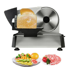 Electric Meat Deli Cheese Food Slicer 7 5 Blade 150w Stainless Kitchen Cutter