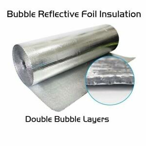 Refletek 48 X 100 Double Bubble Reflective Foil Insulation 400sqft R8